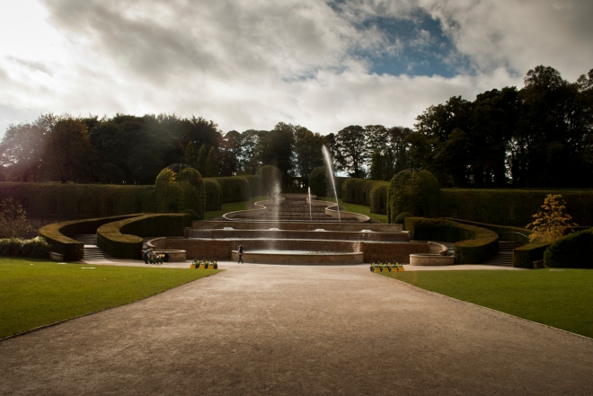 The fountains at Alnwick Gardens