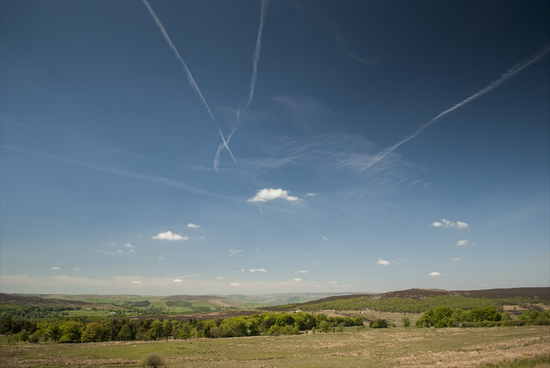 Clear skies over Longshaw